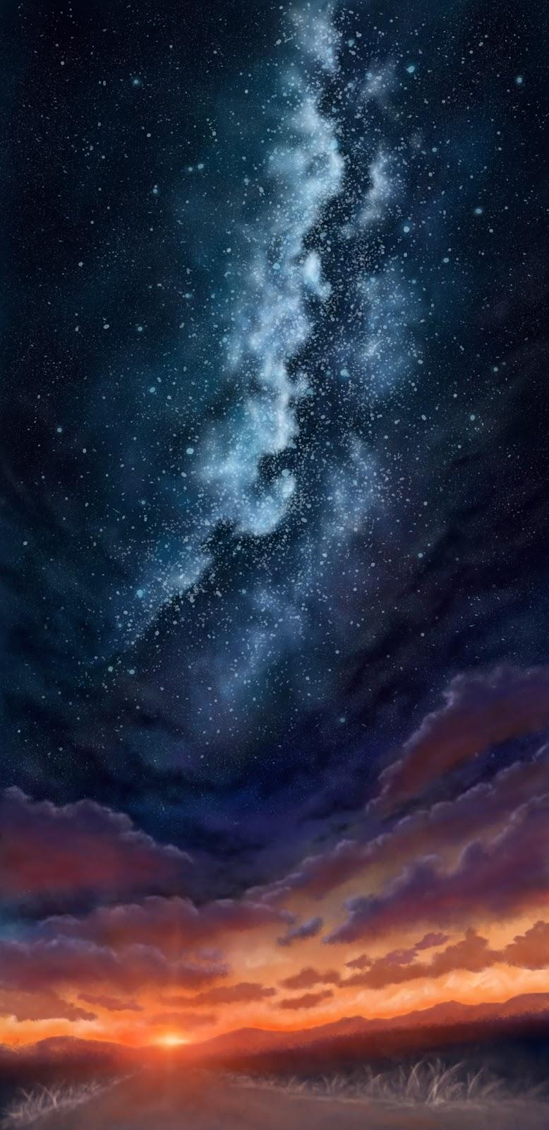 Dãy ngân hà đầy sao giữa hoàng hôn
