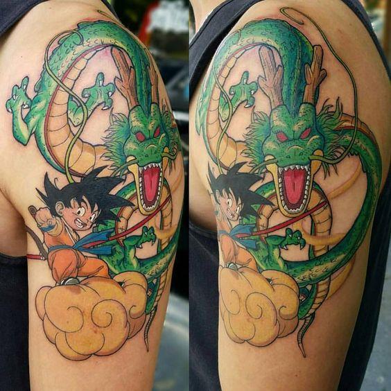 Dragon Ball Tattoo Design on men sleeve