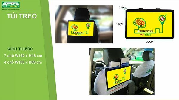 Dán quảng cáo trên taxi sau lưng, ghế xe tại Đà nẵng