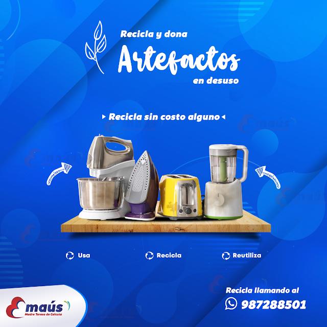 Recicla y dona Artefactos en desuso