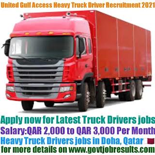 United Gulf Access Heavy Truck Driver Recruitment 2021-22