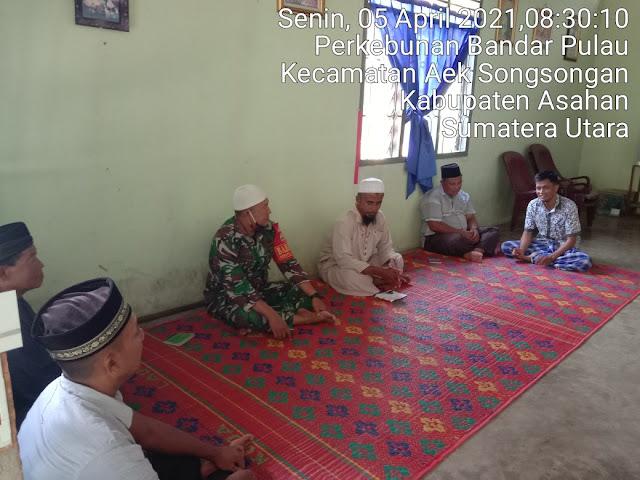 Jalin Silaturahmi, Personel Jajaran Kodim 0208/Asahan Laksanakan Komunikasi Sosial Dengaan Tokoh Agama