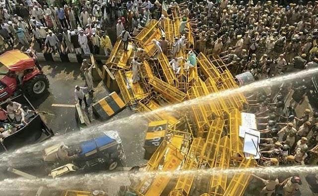 किसान संविधान संशोधन बिल 2020 के खिलाफ किसानों का प्रदर्शन जारी   farmer protest in Delhi against Farm bill 2020  today breaking news hindi