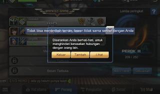 Mengatasi Tidak Bisa Menambah Teman, Server Lawan Tidak Sama Game Crisis Action.