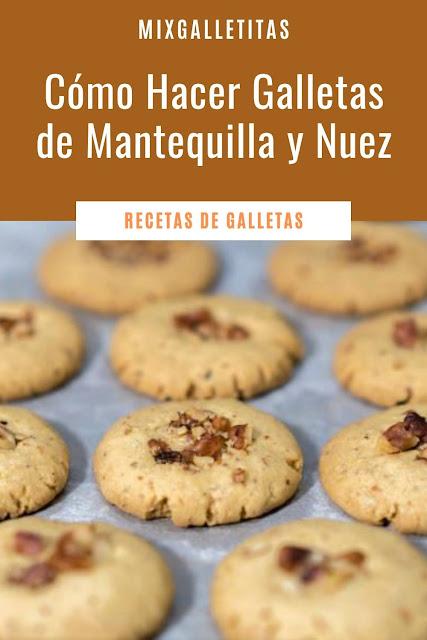 Cómo hacer galletas de mantequilla con nuez