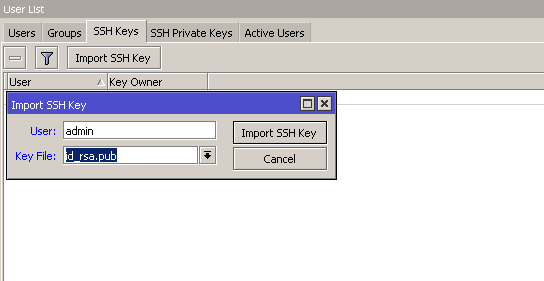 Go Wireless NZ Blog: Using SSH Keys to access MikroTik