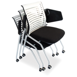 Nesting Training Room Chair with Tablet Arm