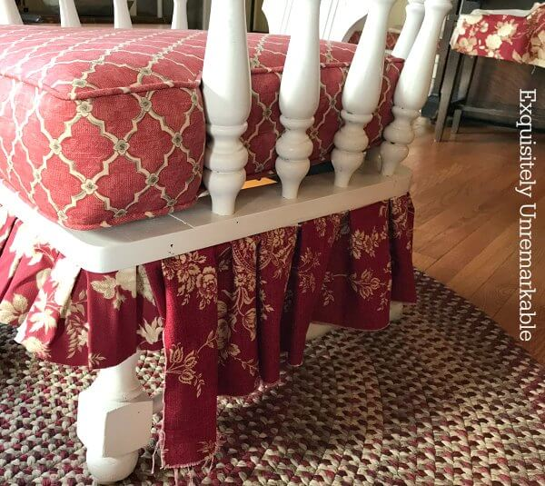 Creating A Fabric Furniture Skirt