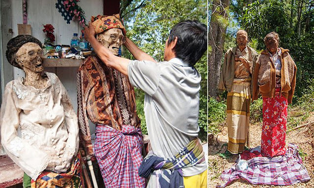 Sebuah Festival dirayakan di negeri ini, orang menyimpan mayat di rumah mereka