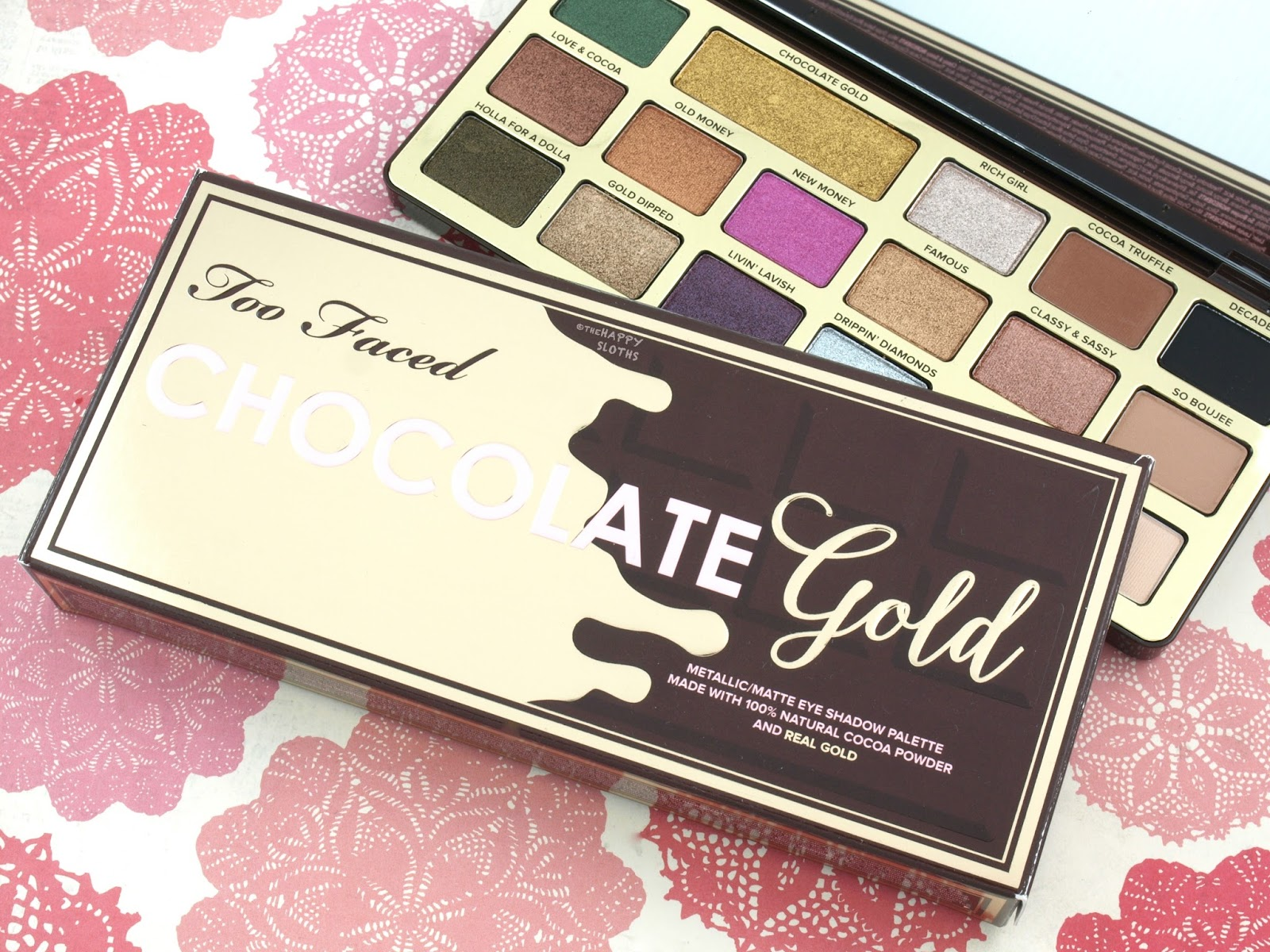 Too Faced Chocolate Gold Eyeshadow Palette: Review and Swatches