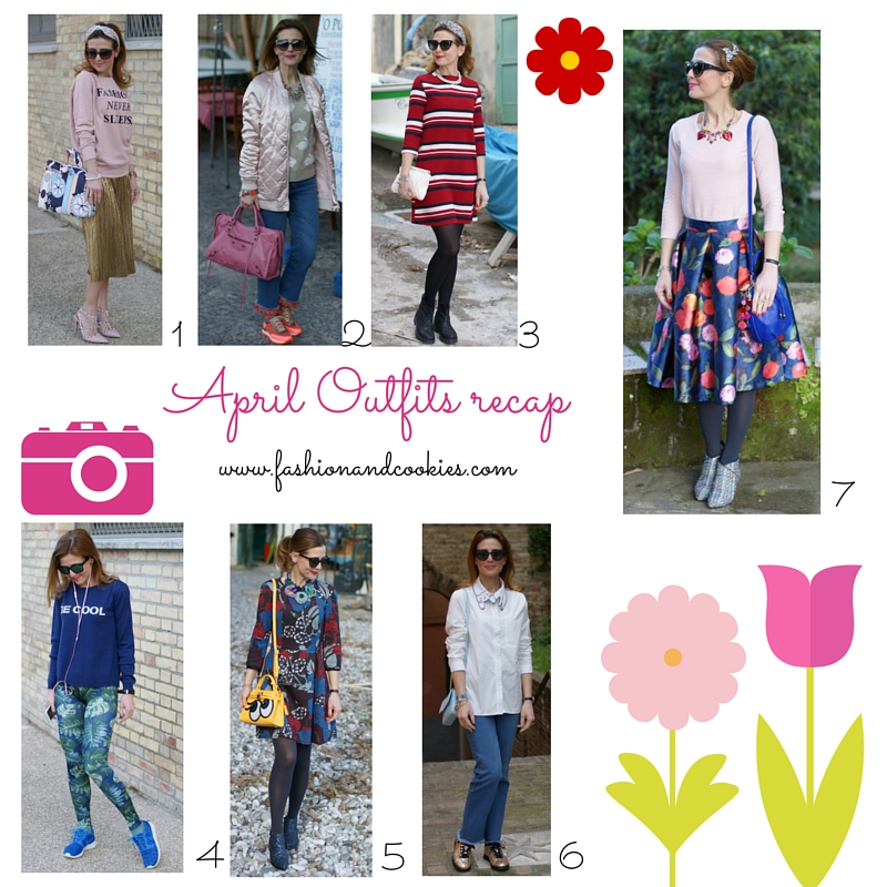 Welcome, May, April 2016 outfits recap on Fashion and Cookies fashion blog, fashion blogger style