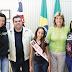 Prefeito recebe a visita da Miss Santa Rita Infantil Teen