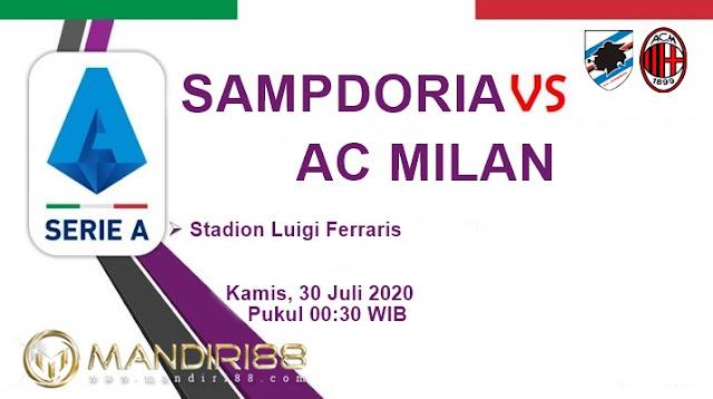 Prediksi Sampdoria Vs AC Milan, Kamis 30 Juli 2020 Pukul 00.30 WIB @ RCTI
