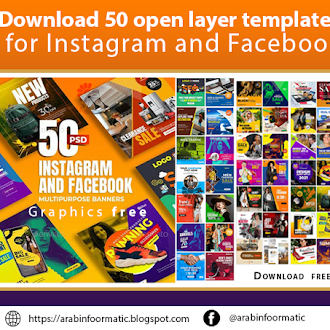 Download  free 50 open layer templates for Instagram and Facebook psd