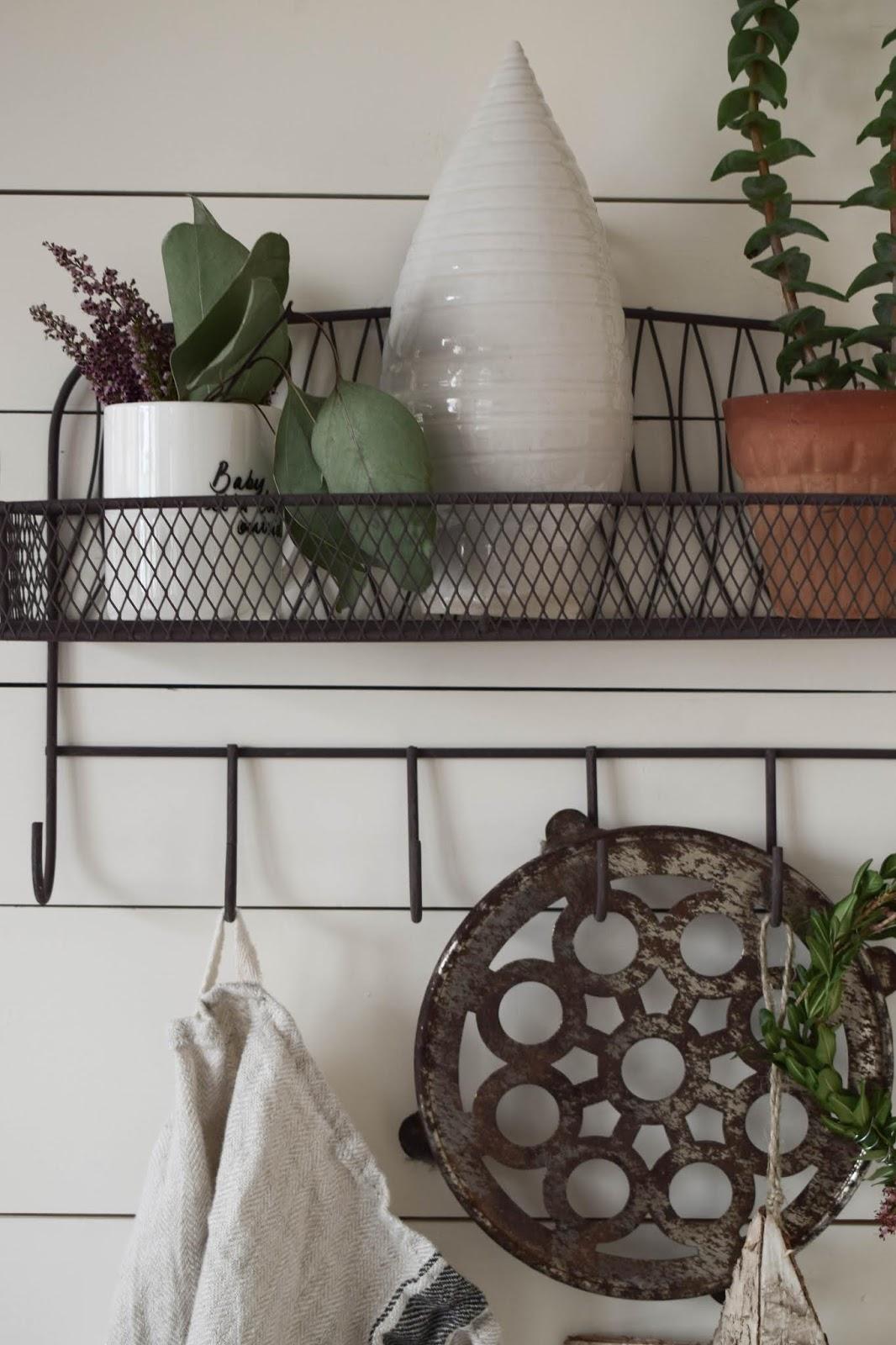 Küche Dekoideen Wand Landhaus dekorieren Aufbewahrung Deko Dekoration