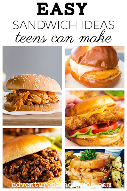 collage of easy sandwiches to make