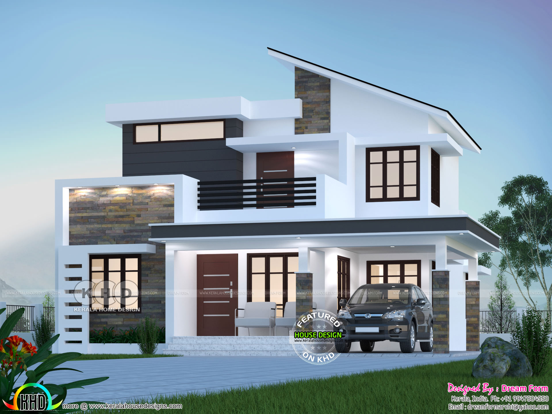 10 sq-ft 10 bedroom modern house plan - Kerala home design and