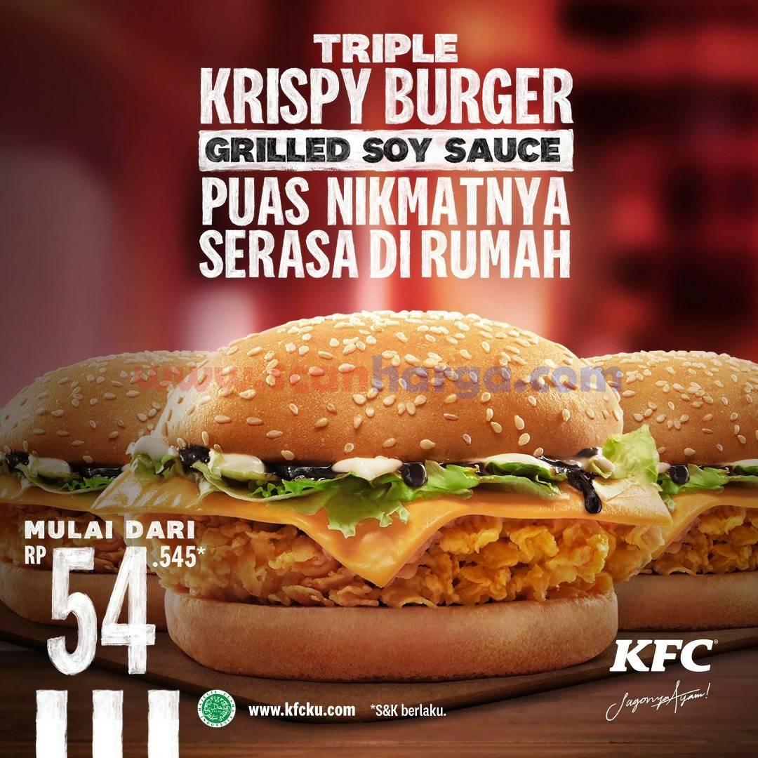 Promo KFC TRIPLE KRISPY BURGER – Harga Spesial Mulai Rp 54.545