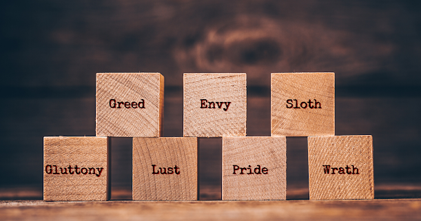 Pride Envy Gluttony Lust Anger Greed Sloth Let's analyze how these common vices can affect your business and your overall income. You may think that the concept of deadly sins is a religious one and do not apply to you, but you may call them negative tendencies if you want. The fact is that you can find them in more or less intensity within most people. You may not realize that one of these tendencies may be affecting you until I show you the details. If you realize that there is a problem, I will also give you the solution so you can fix it. I will explain and compare now the most common negative tendencies among people with their corresponding opposite virtues. Before we start, I need to tell you something