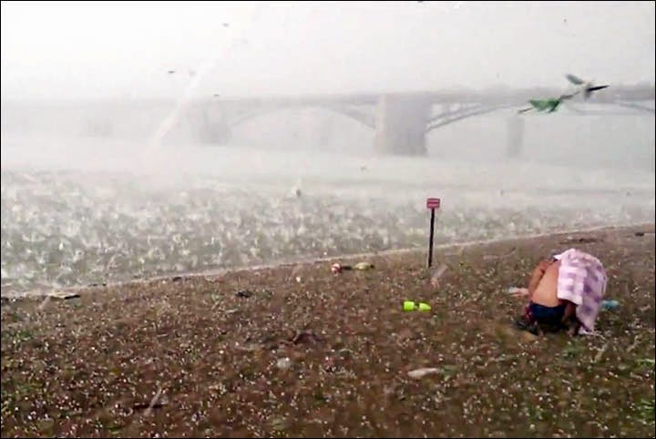 Freak Hail Storm Hits Siberian Beach in Mid-Summer - Snow ...