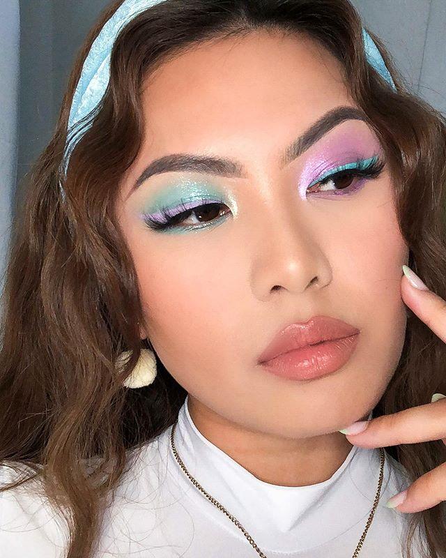 Maquiagem sombra verde lilás