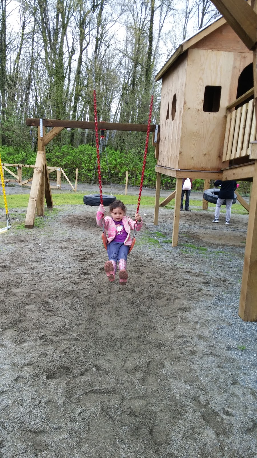 She had fun on the swing