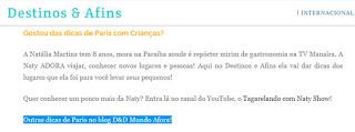 blog Destinos e Afins
