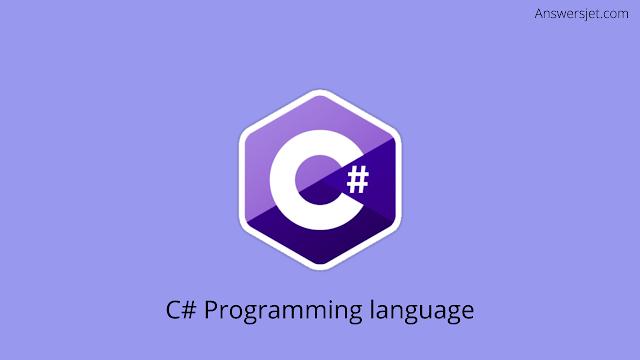 What is programming language?C# Most used programming languages