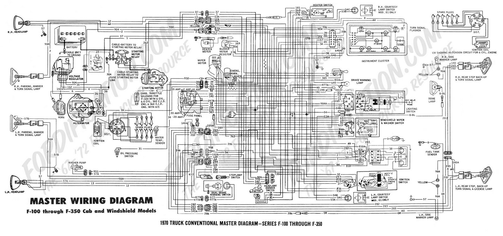 Truck Convencional Master Diagram Series F Through F on Kia Car Radio Wiring Connector