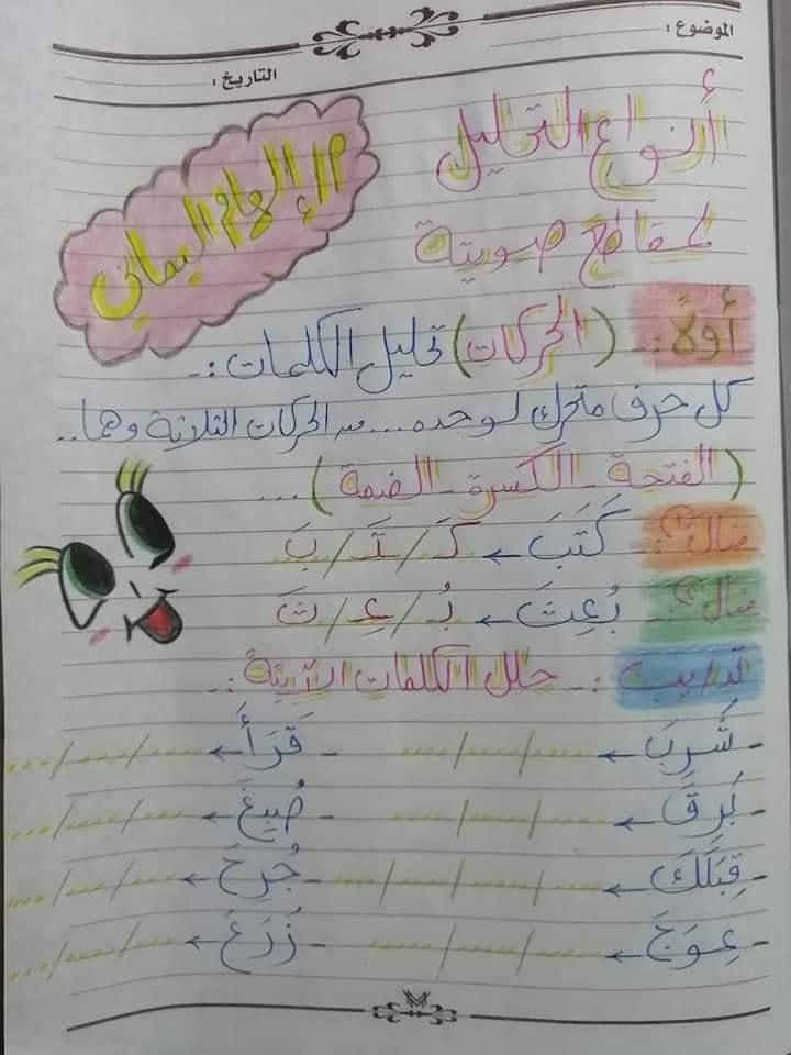 تأسيس عربي | أنواع تحليل الكلمات لمقاطع صوتية لكل الصفوف 1