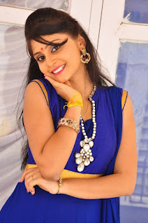 Actress Harisha Krishna Stills in Beautiful Blue Chudiddar  0023.jpg