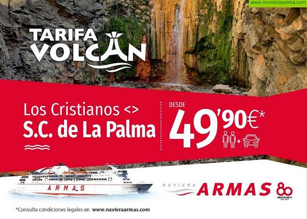 "Naviera Armas promociona la ""Tarifa Volcán"" en la línea de La Palma"