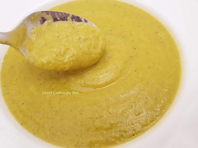 Crema suave de calabacín y calabaza asada