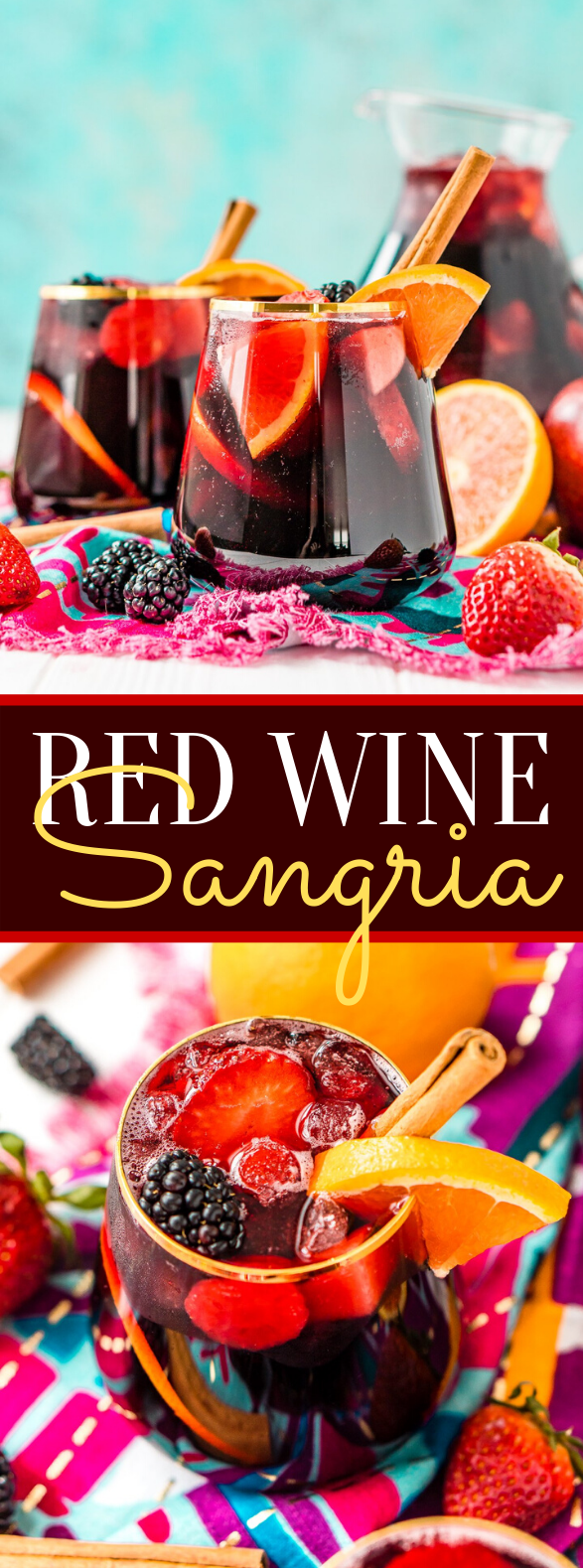 Red Wine Sangria #cocktails #drinks