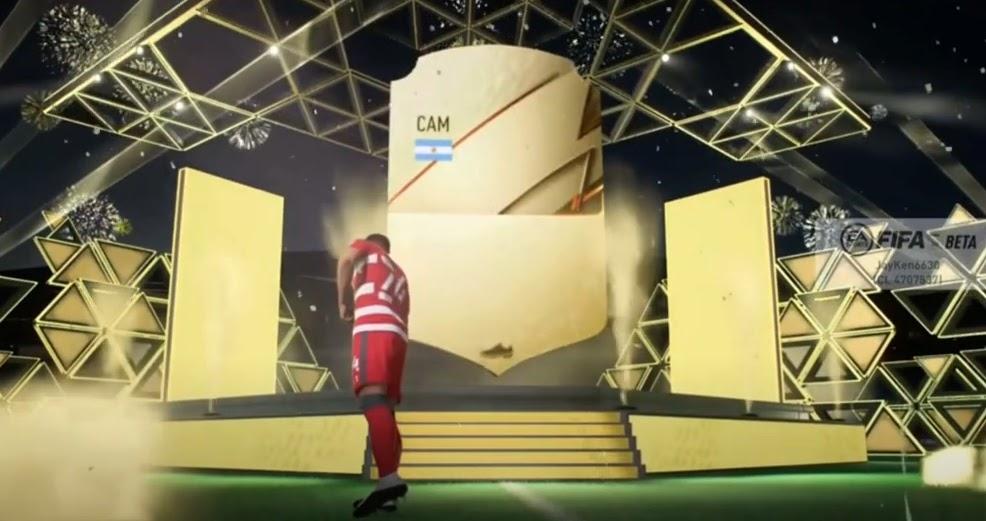 FIFA 22 animacja otwierania paczki