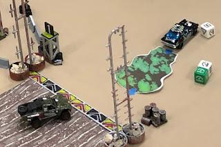 Gaslands arena with oil slick