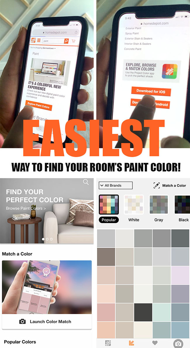 Home Depot - paint color selection app download #homedepotxbehr