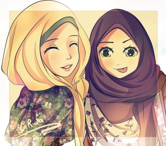 93 Gambar Kartun Cantik Dan Imut Berhijab Keren Cikimm Com