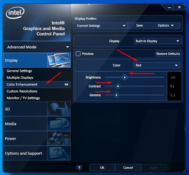 kalibrasi monitor laptop windows 10 dengan intel hd