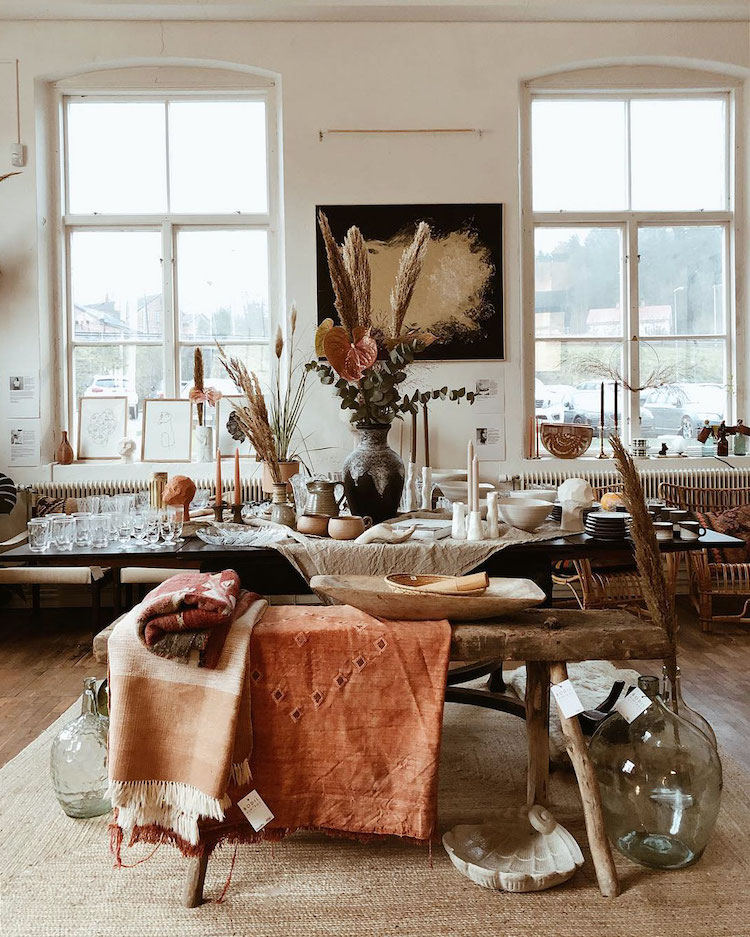 The Earthy Stockholm Home of a Vintage Shopkeeper