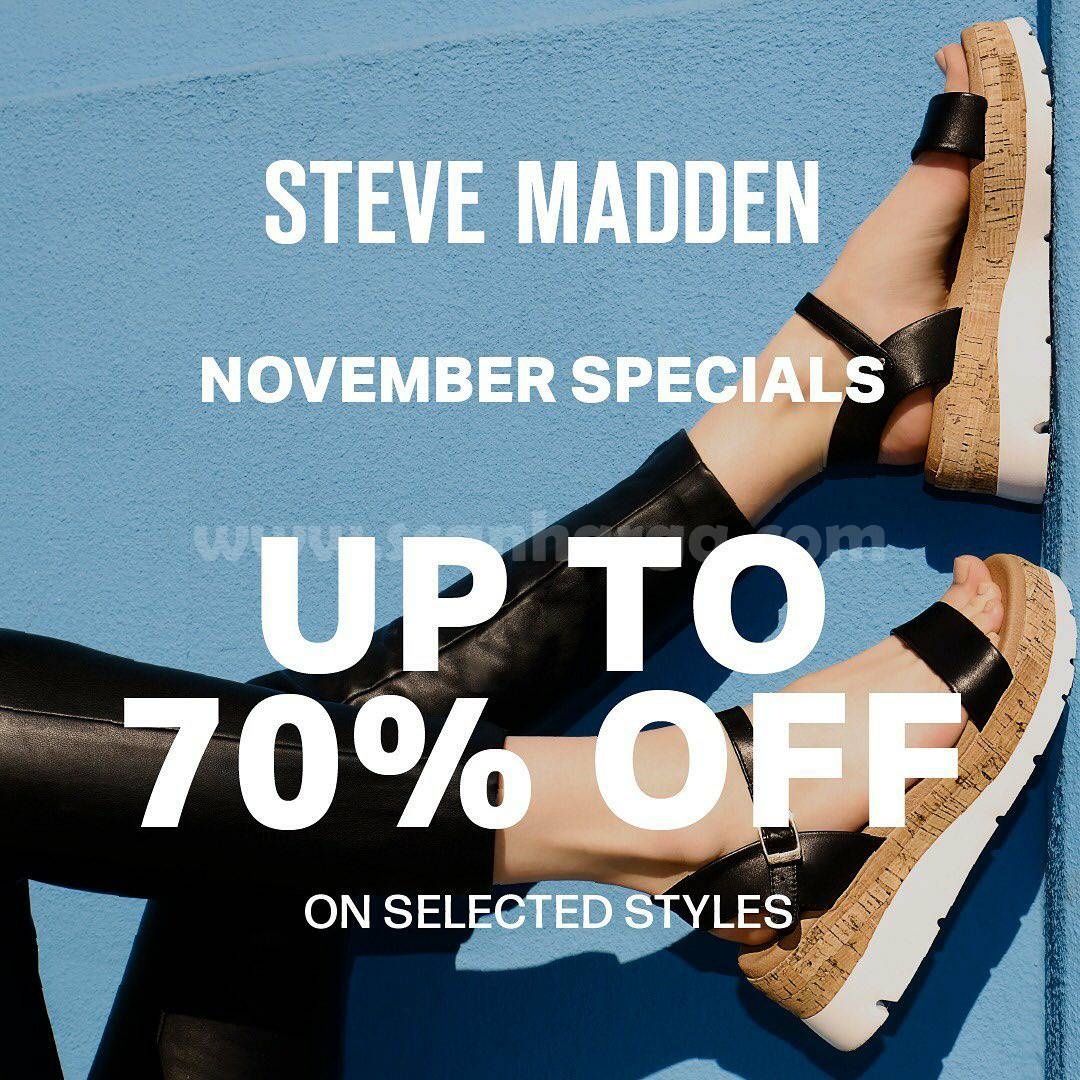 Promo Steve Madden November Special Discount Up to 70% off