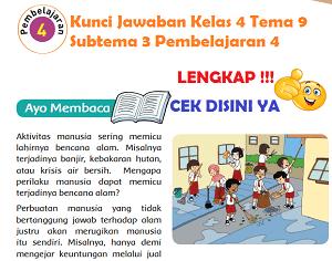 Kunci Jawaban Kelas 4 Tema 9 Subtema 3 Pembelajaran 4 www.simplenews.me