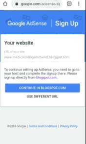 Blogspot Adsense Sign Up