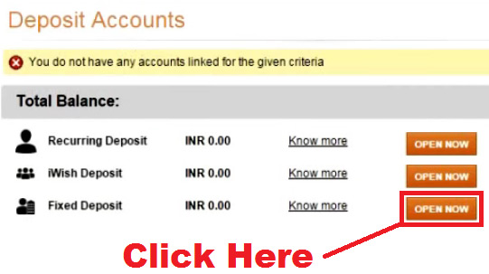 how to open fixed deposit account in icici bank  online through net banking