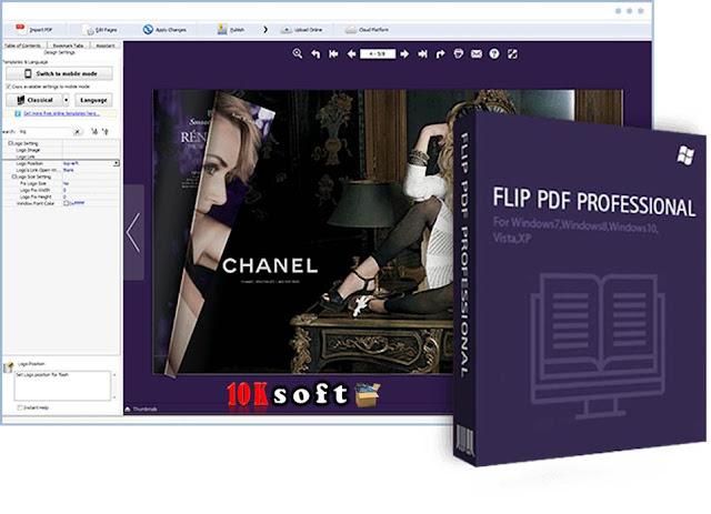 FlipBuilder Flip PDF Professional offline installer Free Download
