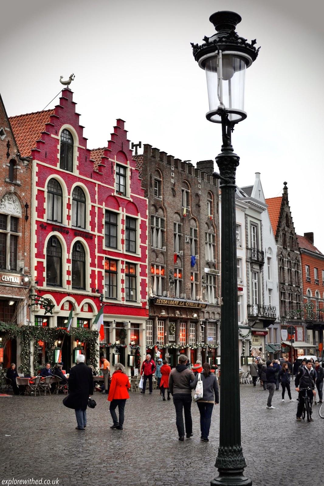 Red brick buildings in Bruges
