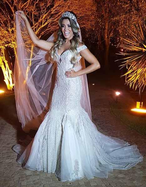fabiana teixeira vestida de noiva