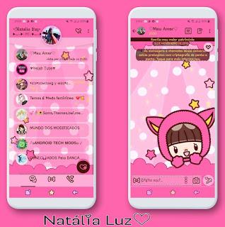 Cute Girls Theme For YOWhatsApp & Fouad WhatsApp By Natalia Luz