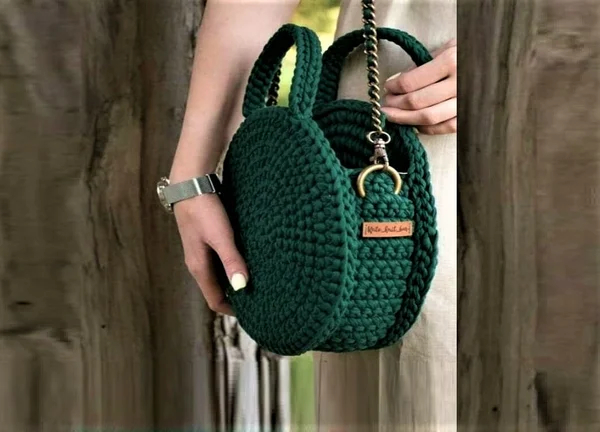 Crochet Round Bag. Pattern and Tutorial
