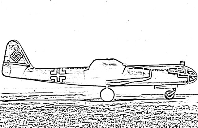 Coloring pages of Arado AR-234 German superweapons holiday.filminspector.com
